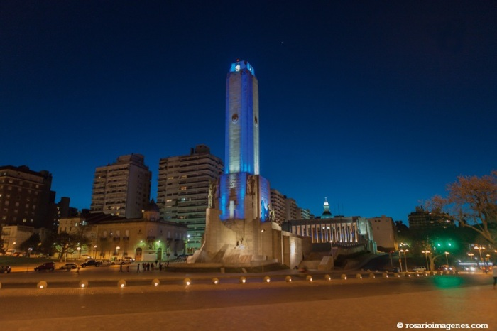 Monumento a la Bandera - nocturna panorámica - B F _MG_3916